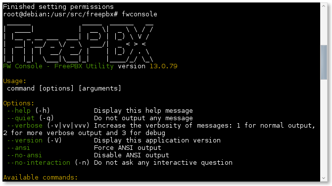 Asterisk 13 Freepbx 13 su Debian 8.3 e Debian 9