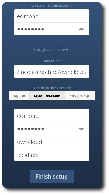 Owncloud 9 Apache Mysql su Raspberry Pi 3 e Raspbian