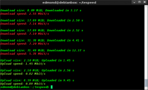 Speedtest da teminale in Linux con Testspeed