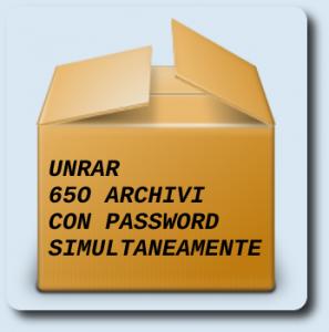 Scompattare centinaia di archivi rar con password con un solo comando