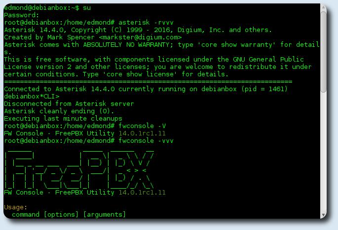Asterisk 14 Freepbx 14 su Debian 8.8