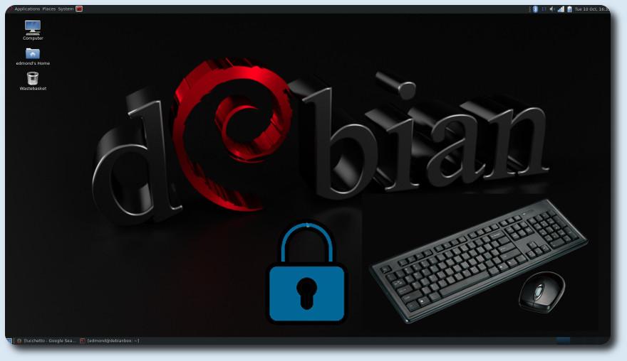 Bloccare tastiera e mouse con schermo attivo