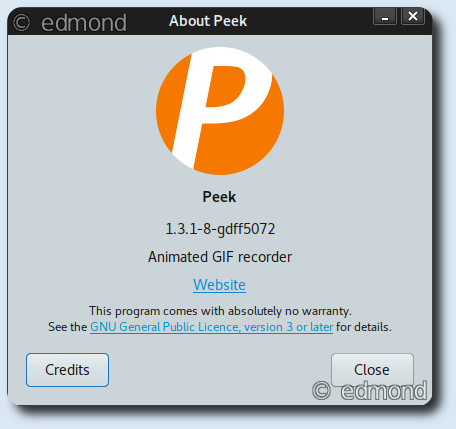 Peek Screencast in Gif su Debian Stretch e Buster